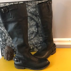 VINTAGE by JEFFREY CAMBELL BLACK LEATHER BOOT SZ 6
